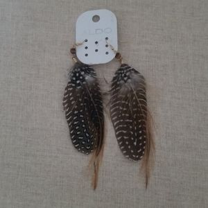 NWOT Aldo Feather Earrings